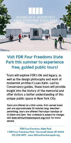 FDR Four Freedoms Park Free 30 Minute Tours