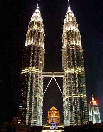 The petronas towers the landmark of kuala lumpur malaysia