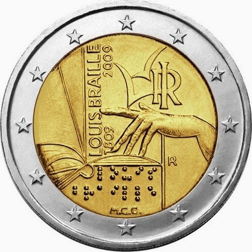 2 euro Italy 2009 Louis Braille Commemorative Coins