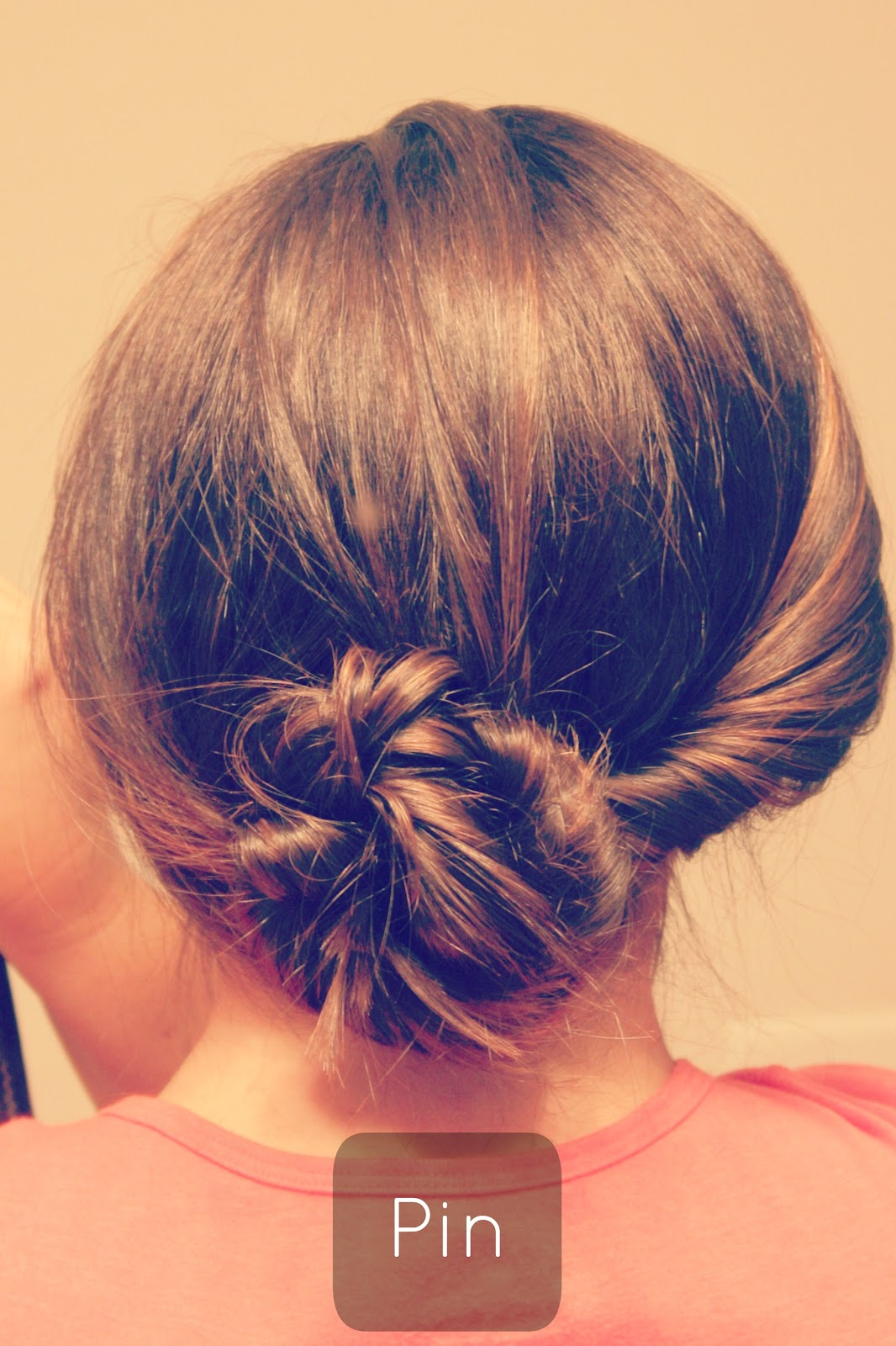 Quick Hairstyles For Short Hair No Heat : flipped+bun+pony+no+heat+hairstyles+quick+fast+easy+updo.jpg