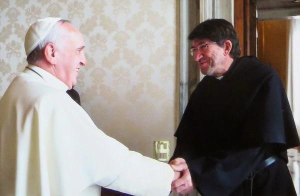 Alejandro Moral, OSA, con el Papa
