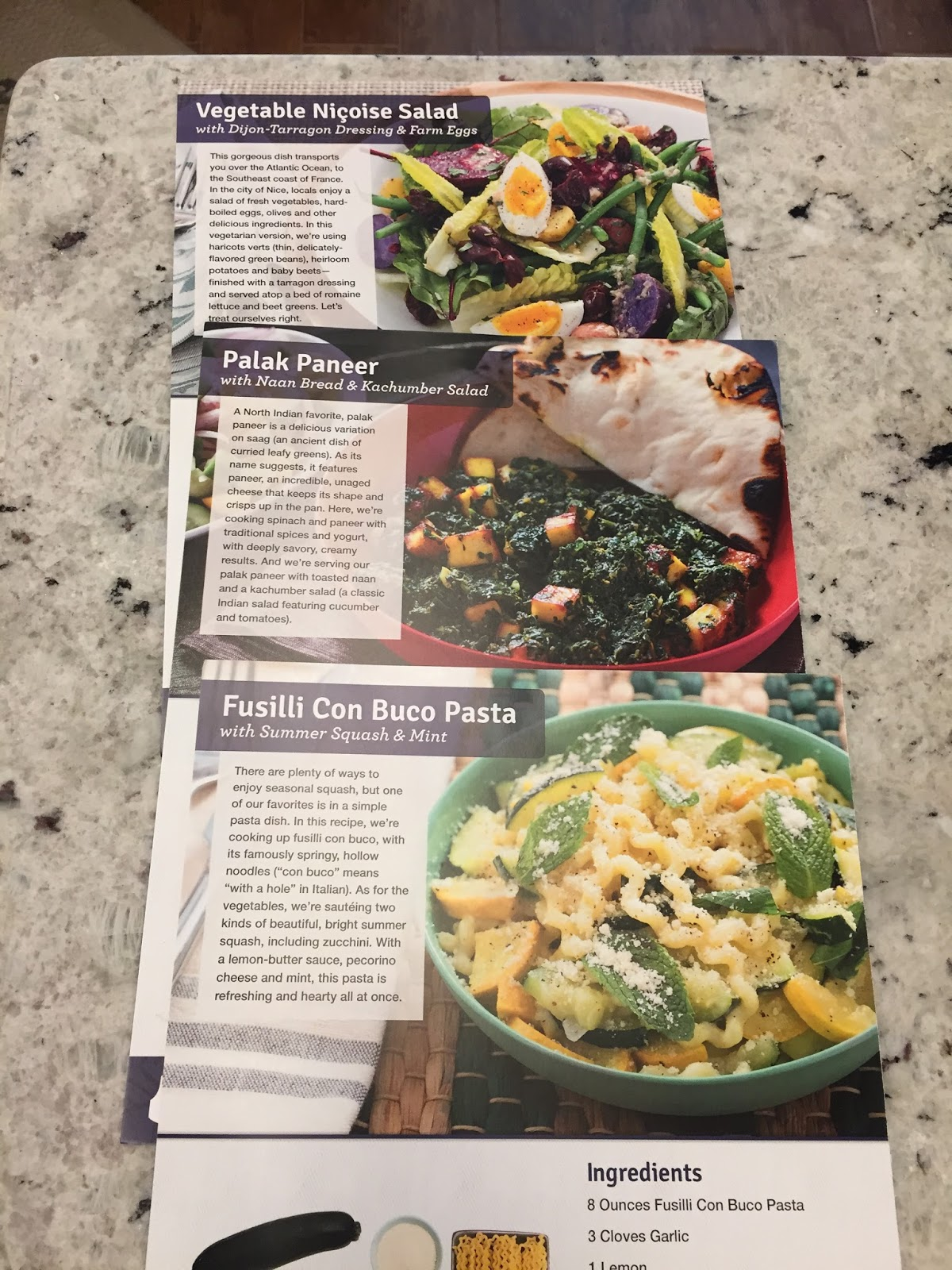 Blue apron vegetarian - I Chose The 2 Person Meal Plan Which Runs 9 99 Per Person The Kids Aren T Old Enough To Eat A Full Portion Yet But If You Get The Family Plan It S 8 74