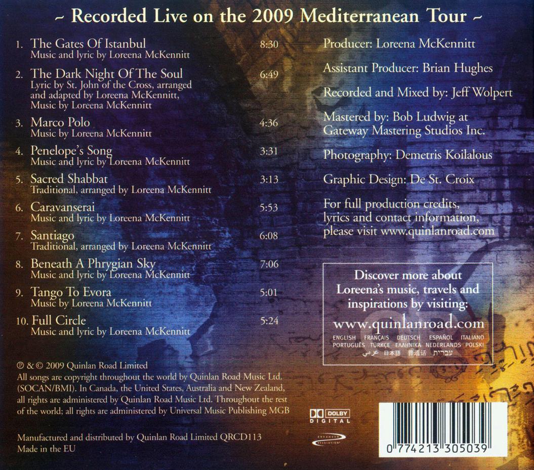 loreena mckennitt collection 2009 a mediterranean odyssey