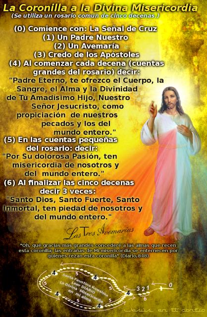reza la corona a la divina misericordia