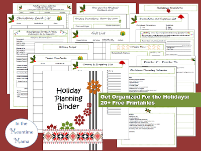 Christmas planning binder 20 sheets and more