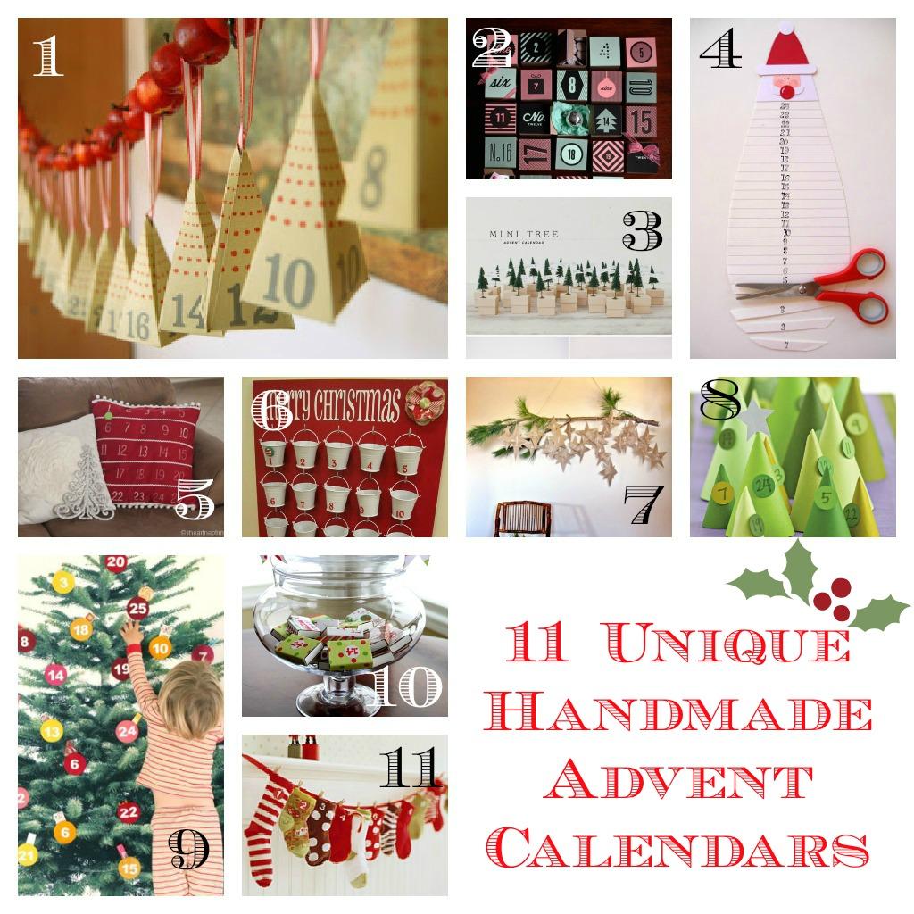 11 unique handmade advent calendars frugal mom eh. Black Bedroom Furniture Sets. Home Design Ideas