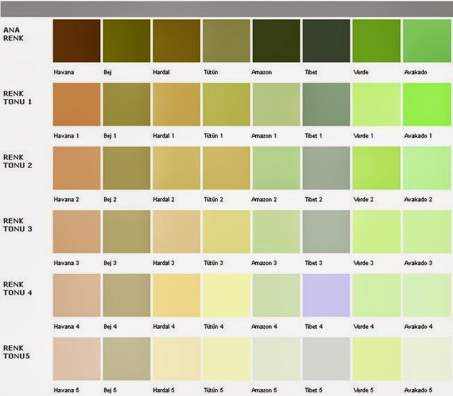 2013 Marshall Boya Renk Kataloğu Biribik