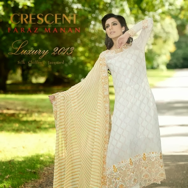 Crescent Stylish Formal Wear Winter Collection 2013-14 For Girls & Women By Faraz Manan