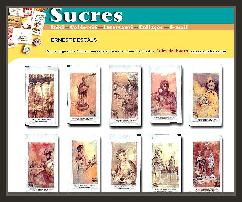 AZUCAR-SOBRES-SUCRES-PINTURAS-ERNEST DESCALS