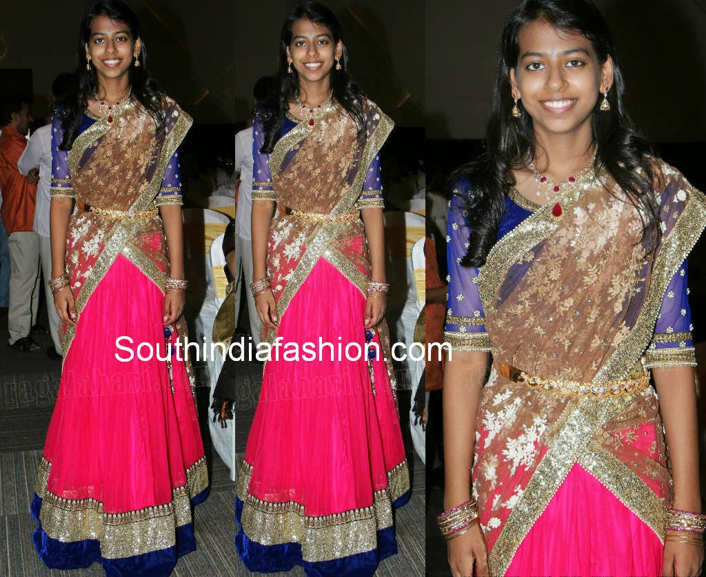 teenage girls half saree models