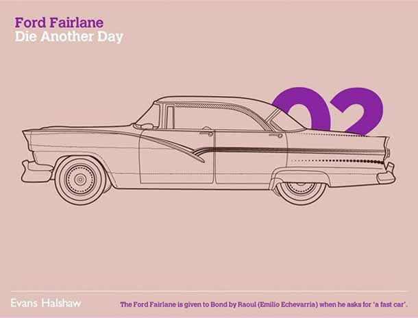 Carros James Bond - 007 - Ford Fairlane - Die Another Day