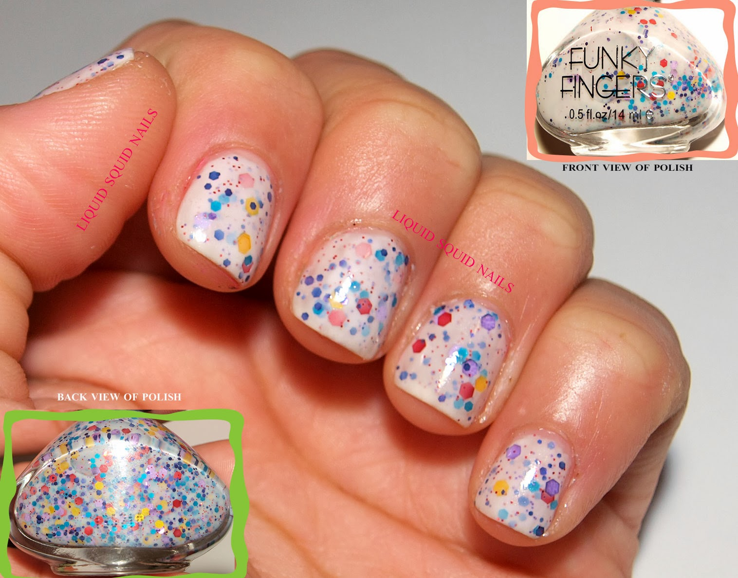 Day 23: Funky Fingers nail polish- nail swatch review