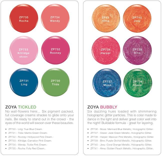 Zoya Summer 2014 Tickled and Bubbly Collection