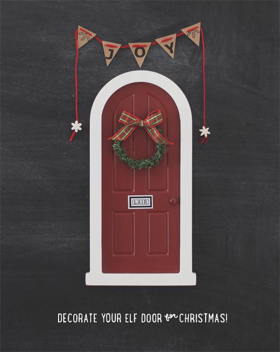 A Little Lair  - Elf door Christmas decorations