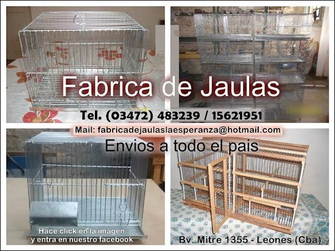 ESPACIO PUBLICITARIO: FABRICA DE JAULAS LA ESPERANZA