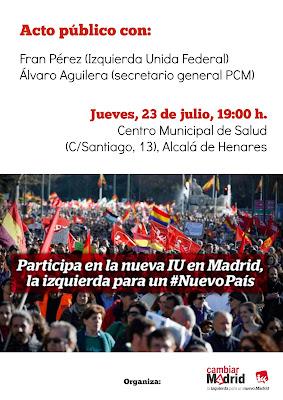 Acto Cambiar Madrid Alcalá de Henares