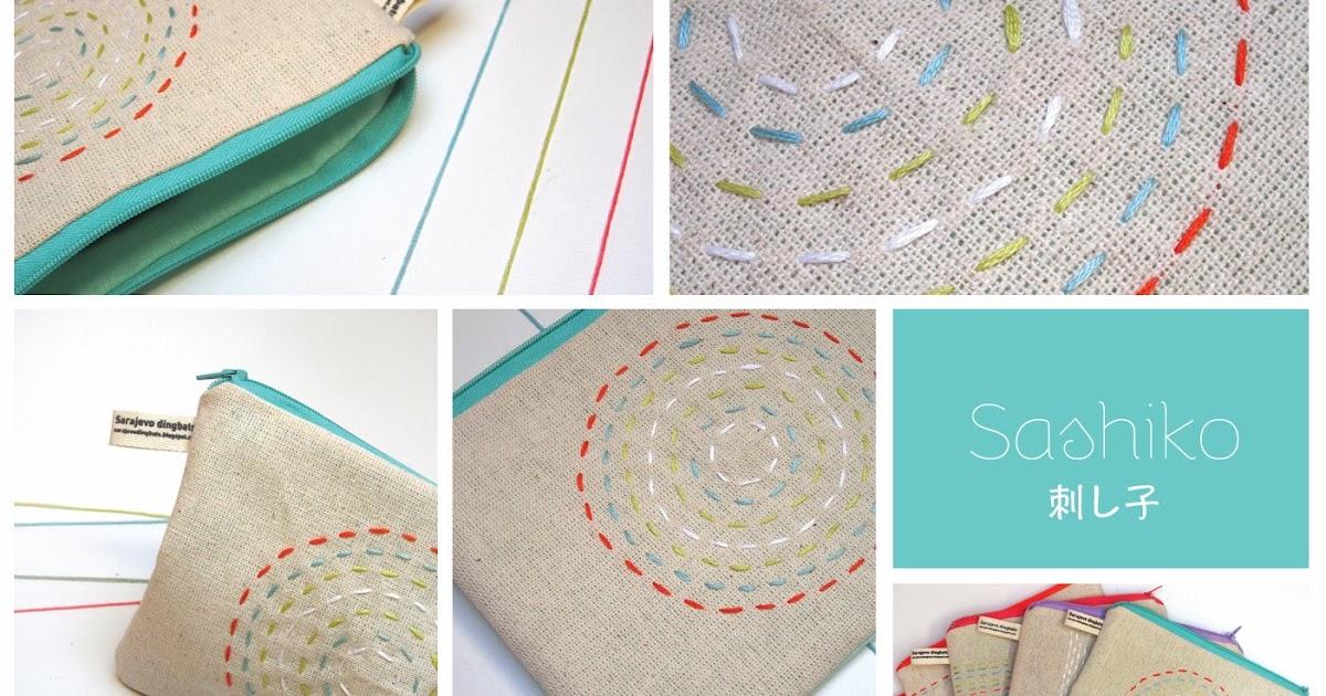 Sarajevo Dingbats: Modern Sashiko stitching