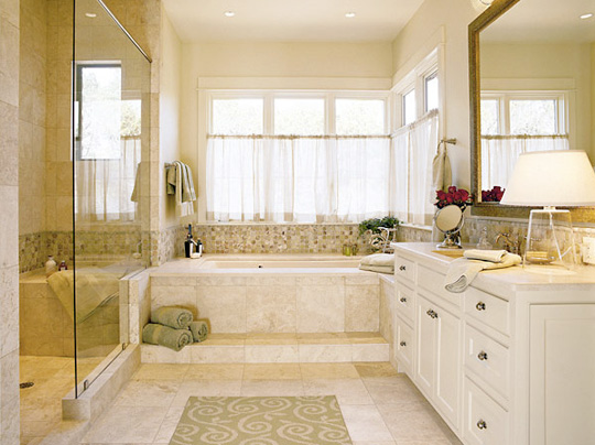 Modern furniture bathroom window curtains designs 2011 for Bathroom window designs