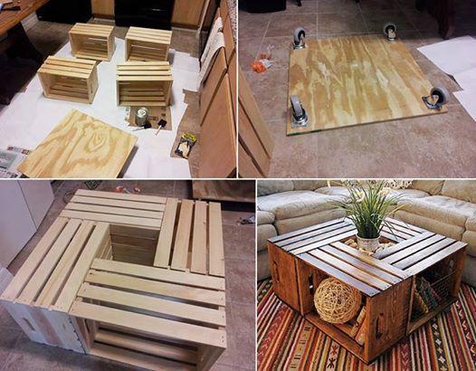 Mi rinc n de sue os una mesa con cajas de madera - Mesas con cajas de madera ...