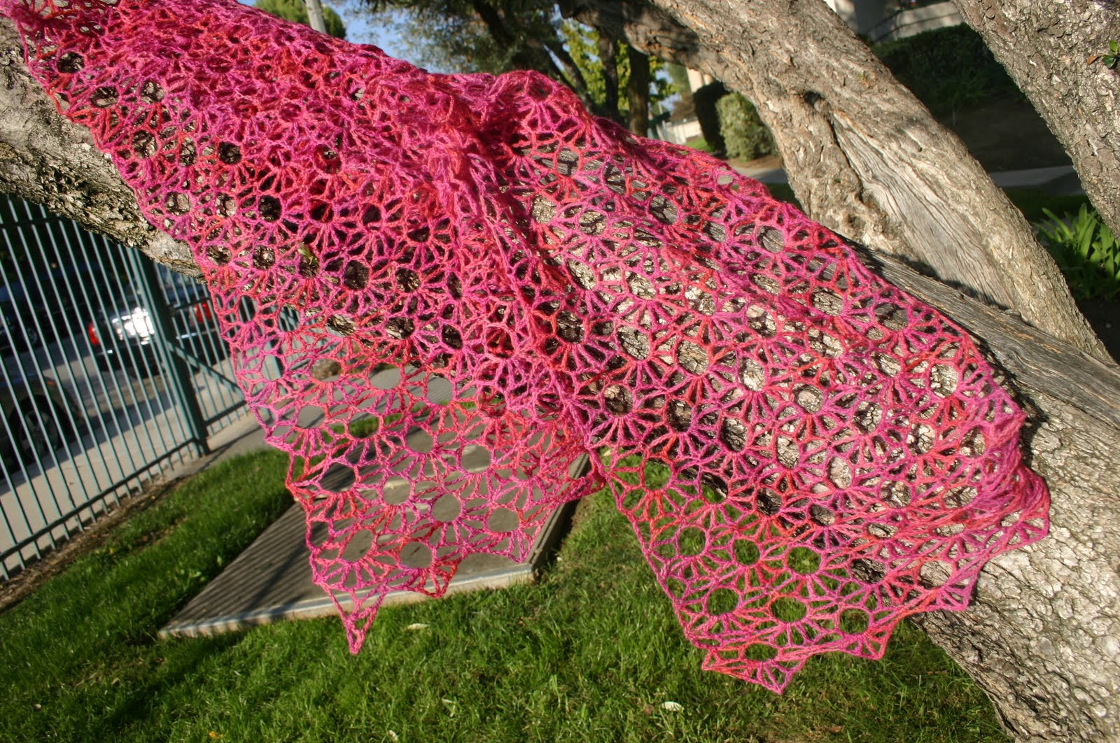 Knitting Summer Scarves : Jessica snell s versailles scarf crocheted