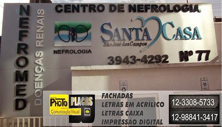 REVESTIMENTO EM ACM FACHADA LETREIRO SANTA CASA NEFROMED SAÕ JOSÉ DOS CAMPOS-SP