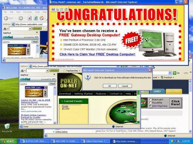 Image result for pop-up ads on desktop computer