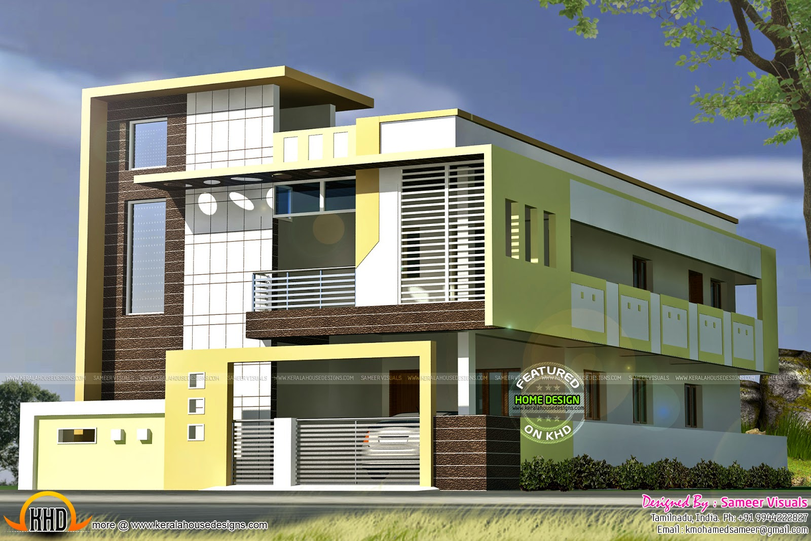 Small budget contemporary house keralahousedesigns Rental house plans