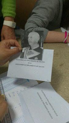 Franco en voto nulo, elecciones gallegas 2012