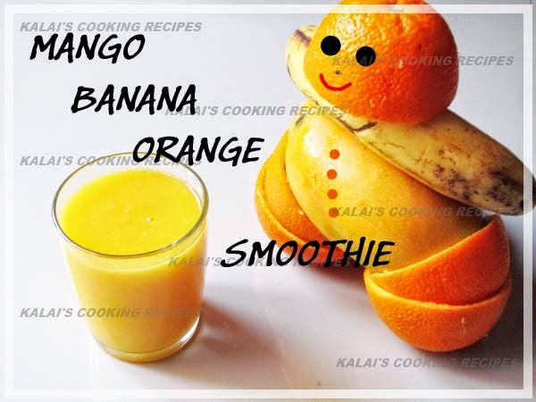 Mango Banana Orange Smoothie | A Fresh and Fruity Summer Smoothie