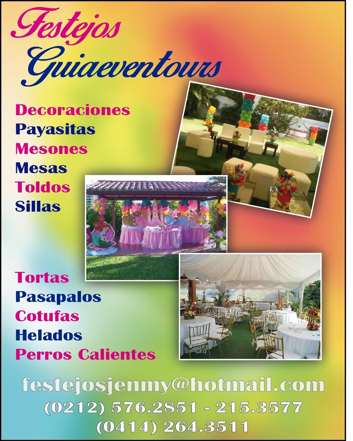 FESTEJOS GUIAEVENTOURS C.A. en Paginas Amarillas tu guia Comercial
