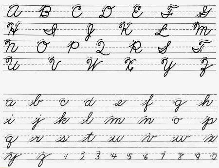 English Cursive Handwriting