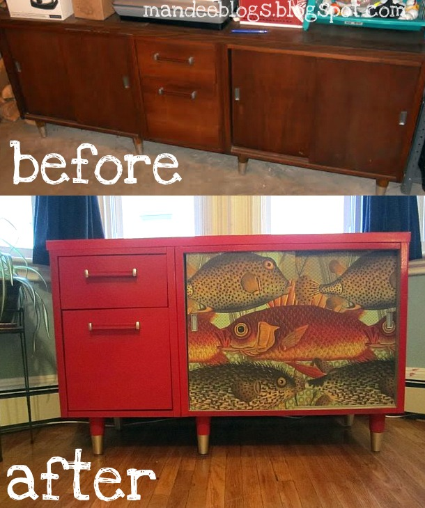 Makeover Monday: The Red Credenza