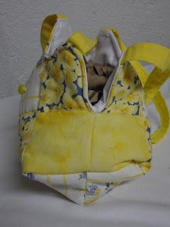 sunshine, mini, quilted, yellow, bag, child