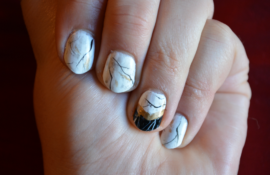 Marble Tile Look On My Nails So I Will Probably Try That Next For More Of Nail Art Adventures Check Out New Tumblr The Historians