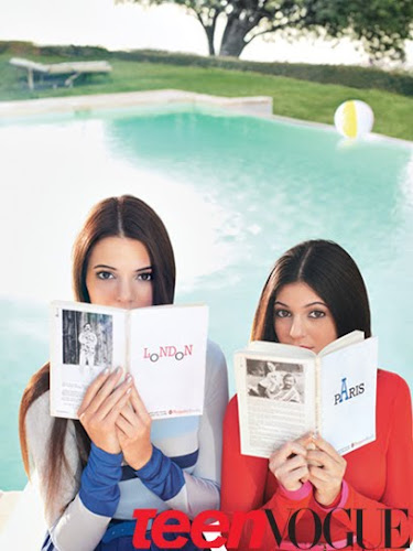 Kendall Jenner and Kylie Jenner Teen Vogue March 2012 Scans