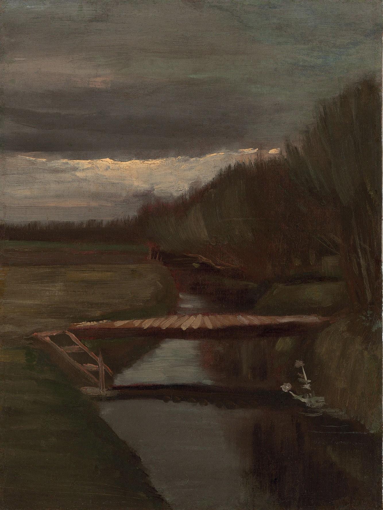 Footbridge Across a Ditch by Vincent van Gogh