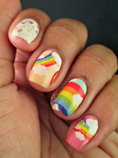 Born Pretty, nail stickers, rainbow, rainbows, review, nails, nail art, nail design, mani