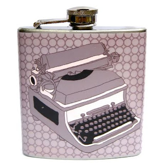Ma Bicyclette: Buy Handmade | Whimsy and Ink Hip Flasks - Typewriter Hip Flask