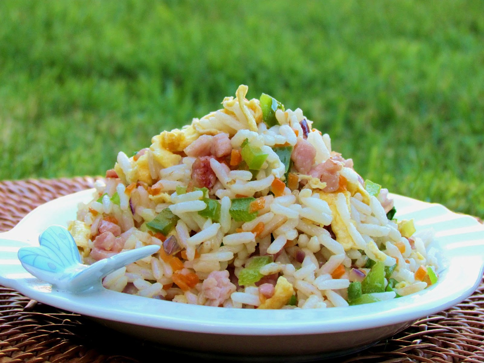 Fried rice with bacon and vegetables ccuart Choice Image