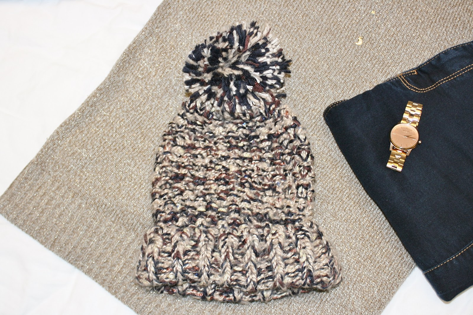 Katherine Penney Chic Winter Hat Style Fashion Outfit Glitter