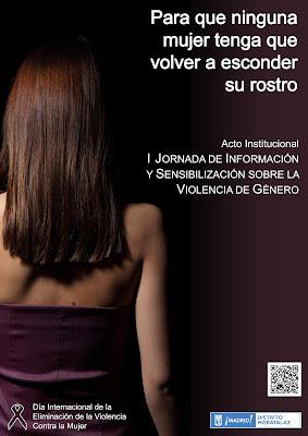 Cartel de la I Jornada de Información y Sensibilización sobre la Violencia de Género.