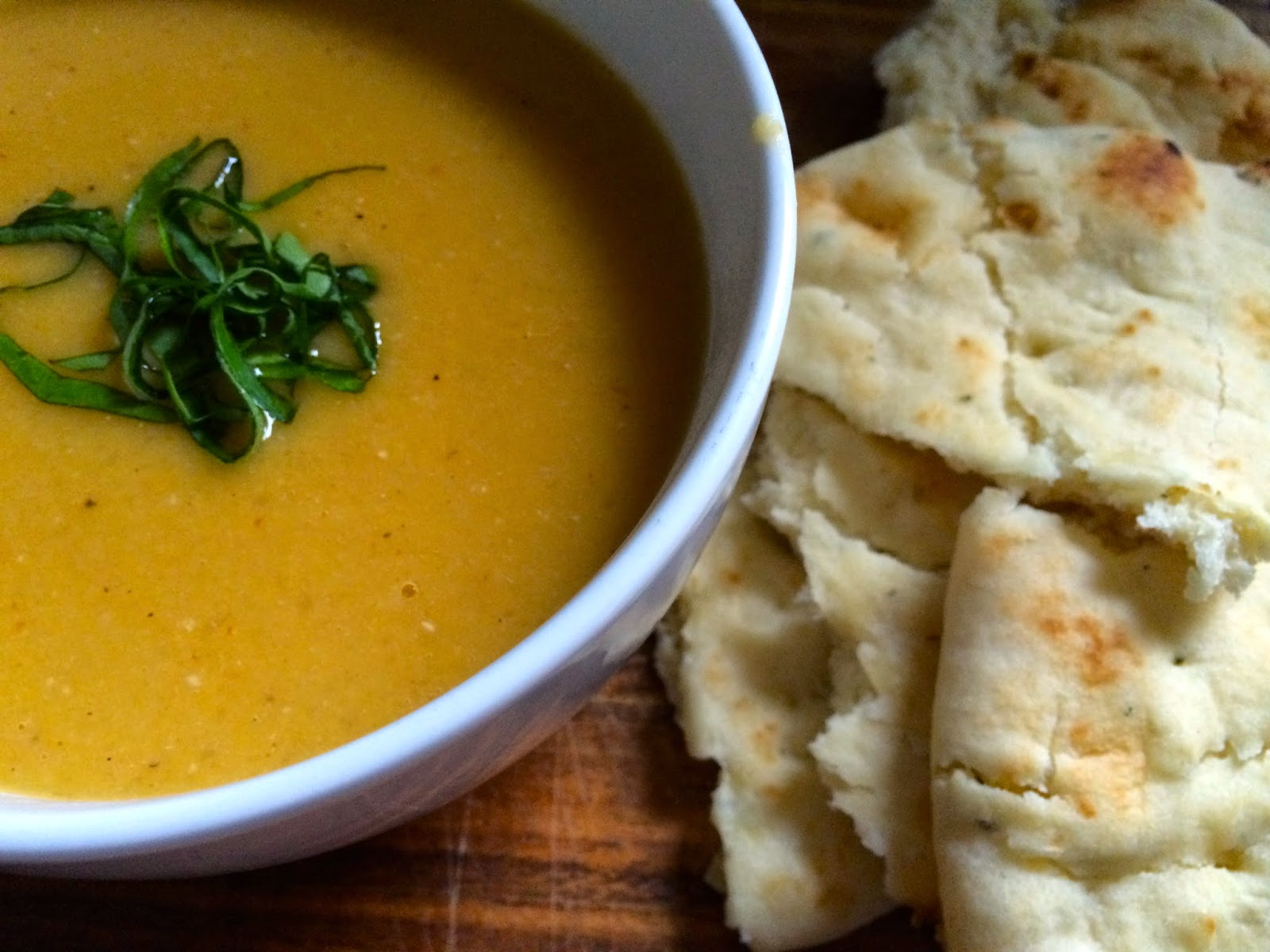 Vegan Red Lentil and Winter Squash Bisque