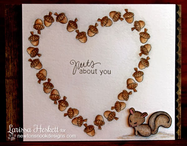 Squirrel Valentine Card by Larissa Heskett for Newton's Nook Designs