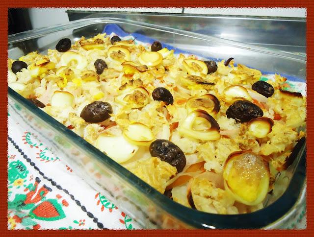 Salada quente de bacalhau para comemorar o dia dos pais
