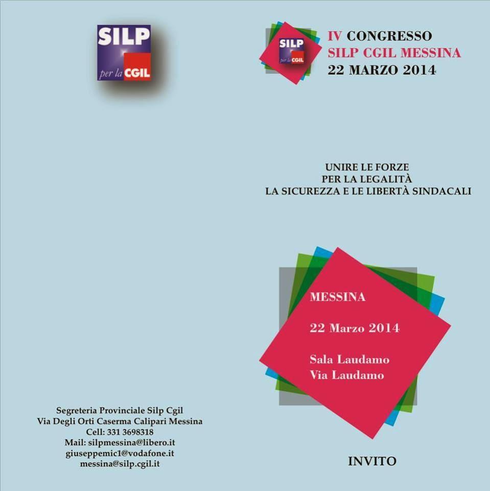 IV CONGRESSO PROVINCIALE SILP CGIL MESSINA