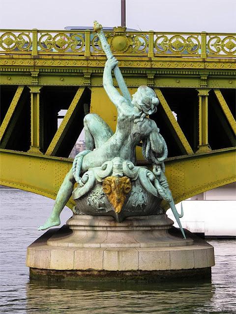 Commerce by Jean-Antoine Injalbert, Pont Mirabeau, Paris