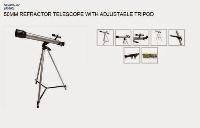 50MM Refractor Telescope with Adjustable Tripod