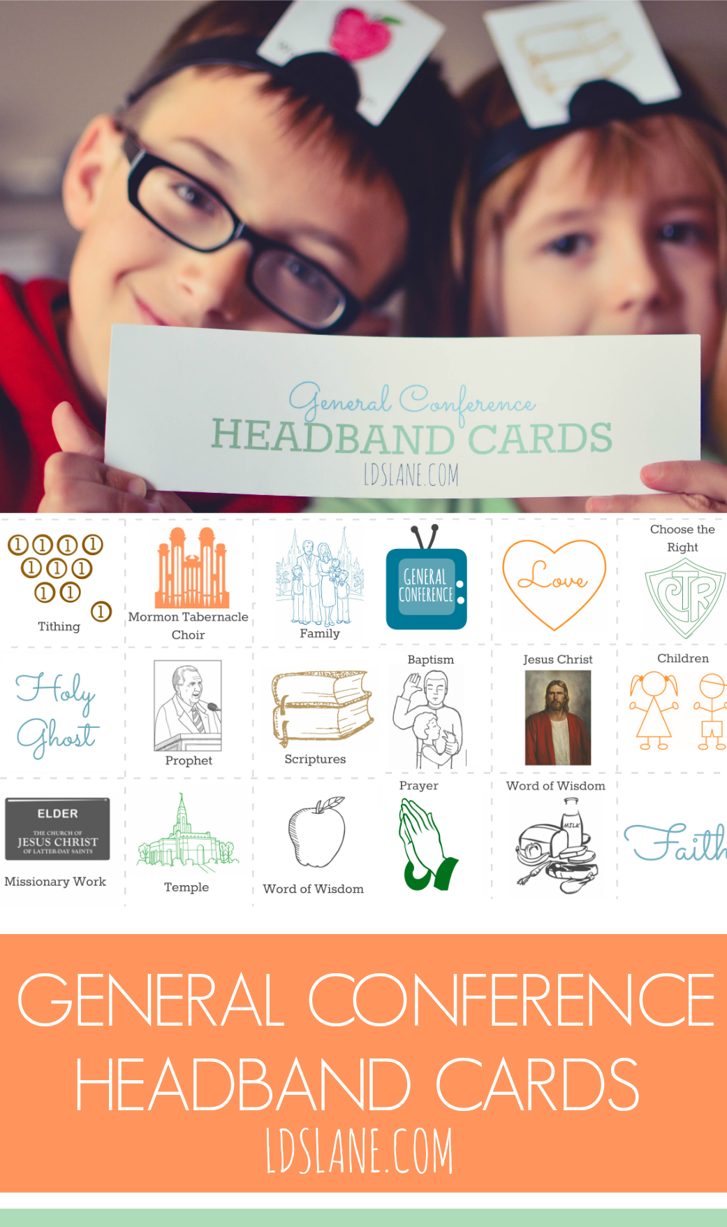 General Conference Headband Cards by LDSLane.Com #lds #mormon