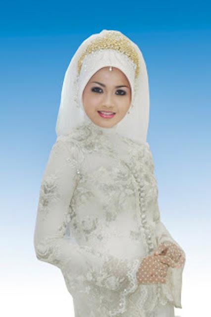 kebaya pengantin putih