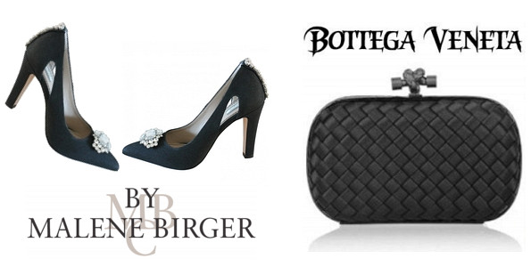Princess Marie's BY MALENE BIRGER Crystal Shoes And BOTTEGA VENETA Satin Clutch